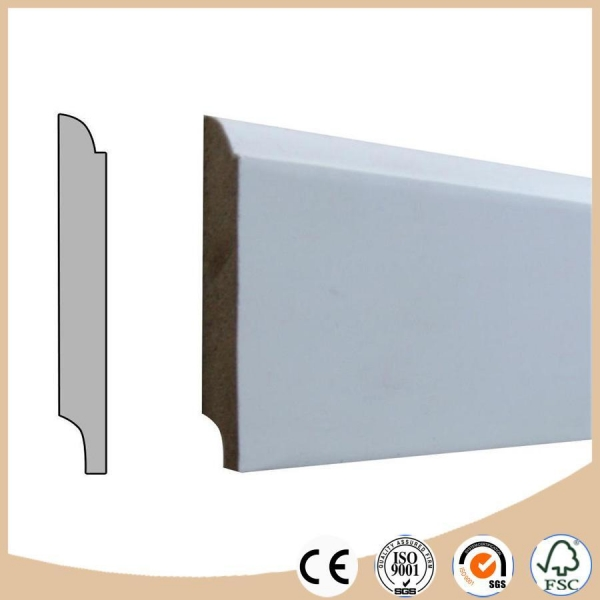 Cheap Wpc Vinyl Flooring Skirting Board Baseboard