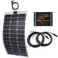 Quality Lensun 75W Flexible Solar Panel charge kit for boats,yacht,motorhome, 10A regulator, 5m cables wholesale