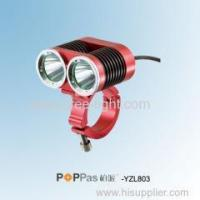 Buy cheap Professional 2X CREE XM-L T6 Rechargeable High Power Bicycle LED Light POPPAS-YZL803 from wholesalers