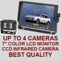 """Quality 7"""" COLOR REAR VIEW BACKUP CAMERA SYSTEM - Digital Flat LCD and CCD Camera wholesale"""
