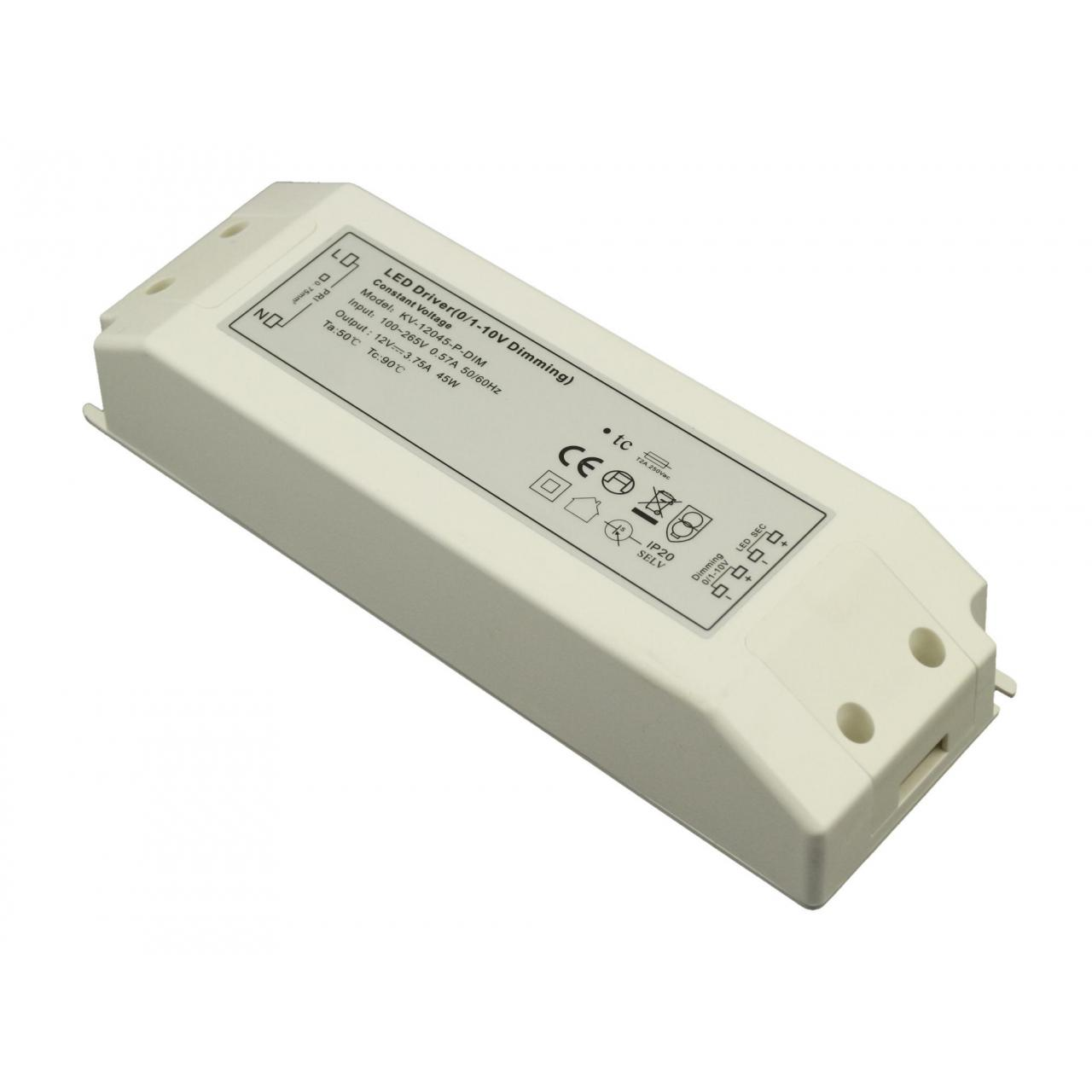 China 36W 0/1-10V Dimmable constant voltage led driver on sale