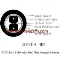 Quality GYPHA-4B6 FTTH Duct Cable 4 core with 0.4mm Steel Wire strength member wholesale