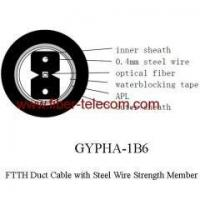 Quality FTTH Duct Cable 1 core with 0.4mm Steel Wire strength member wholesale