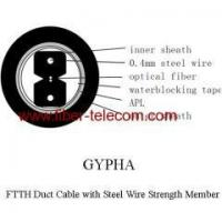 Quality FTTH Duct Cable 2 core with Steel Wire strength member wholesale