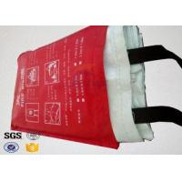 Buy cheap 7oz Kitchen Fiberglass Heavy Duty Fire Blanket with 100 % Glass Fiber Materials from wholesalers