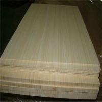 China Natural Colour and Vertical Pressed Bamboo Slabs as Furniture Facing on sale