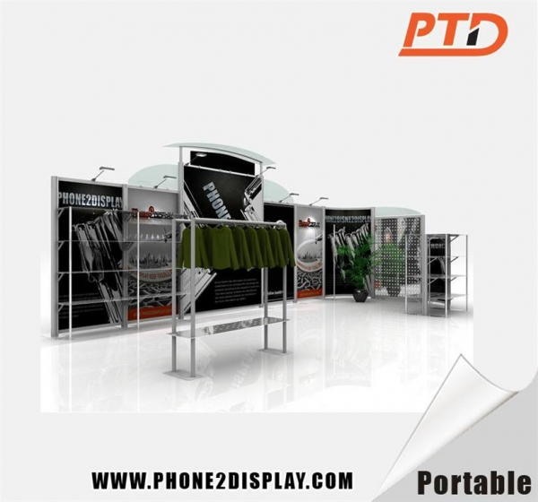Exhibition Booth Set Up : Cheap exhibition booth quick set up portable of