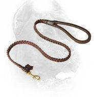 Quality Braided Leather Cane Corso Leash with Comfy Handle wholesale