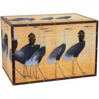 Quality Chinese Art Furniture Cranes Storage Trunk wholesale