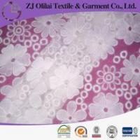 Quality organza 100% Cotton embroidery lace fabric wholesale