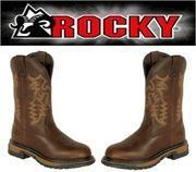 China ROCKY Brand - Women's 11 STEEL TOE - Branson Roper Western Cowgirl Boots - Chocolate Brown on sale