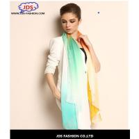 Quality Scarves Gradient Digital Printed Oblong Silk Chiffon Printed Scarf wholesale