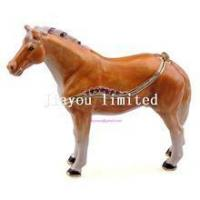 Quality TBP0014Y-horse trinket jewelry box horse figurine statue metal home decor wholesale