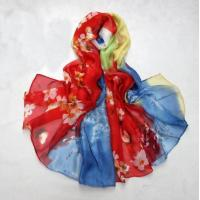 Quality Spring/Summer Style Sunscreen Printing Beach Silk Scarves wholesale