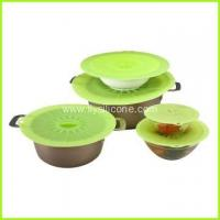 Buy cheap Non spill FDA LFGB silicone food storage covers FYK-2076 from wholesalers