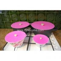 Buy cheap flexible Food Grade OEM Silicone stretch Cover Lid from wholesalers