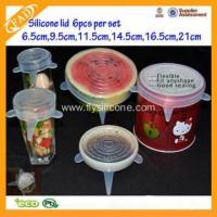 Buy cheap Flexible Food Grade Creative Green Eco-friendly Silicone Lid from wholesalers
