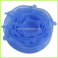 Buy cheap Blue Silicone Pot Lid Cover Set from wholesalers