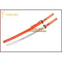 Quality JH183GD Japanese sword|Bright orange-red color two-tone chrysanthemum sheath samurai sword wholesale