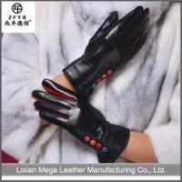 Quality ZF5036 new collectiom ladies sheep napp leather gloves with fashion button wholesale