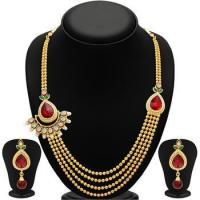China Marshall Art... Glittery four strings gold plated necklace set on sale