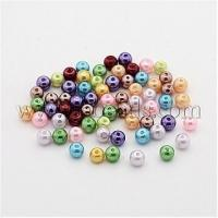 Quality Dyed Glass Pearl Round Bead Strands, Cotton Cord Threaded, M...(X-HY-A002-4mm-M) wholesale