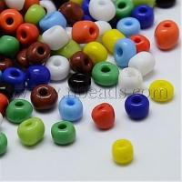Buy cheap Mixed Color 8/0 Opaque Loose Spacer Glass Seed Beads, 2.0~3....(X-SEED-A017-8-51) from wholesalers