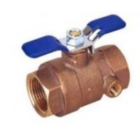 Cheap Bronze Ball Valve With Waste Drain-Threaded for sale