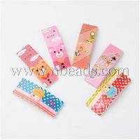 China Cute Hair Accessories Printed Resin Iron Snap Hair Clips for...(PHAR-M011-M) on sale