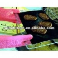 Quality Reusable Non-sticky PTFE FABRIC, BBQ GRILL MAT,oven lienr ,dishwash safe! wholesale