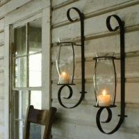 Quality Flat Iron Wall Sconce w/Glass wholesale