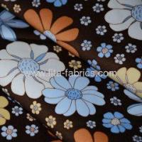 Quality Flower printed cotton stretch satin drill fabric for lady