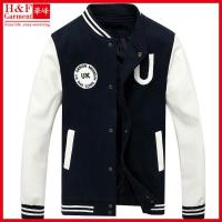 Quality Cheap Custom Varsity jacket made of cotton polyester fleece wholesale