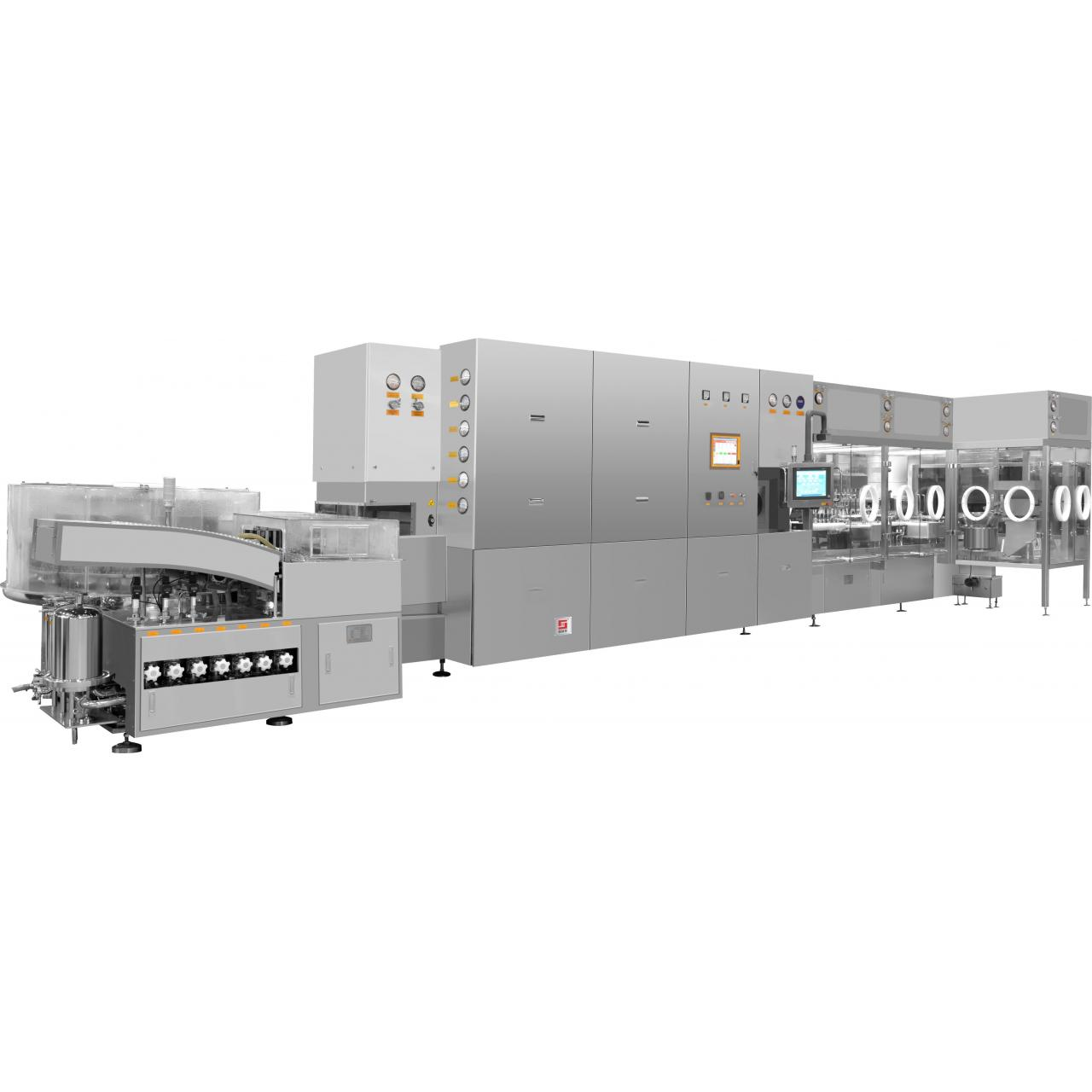 GLX2-25 Model Vial Liquid Washing-Drying-Filling-Stoppling Production Line