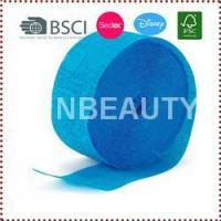 Quality 10m/Roll Blue Crepe Paper Streamers wholesale