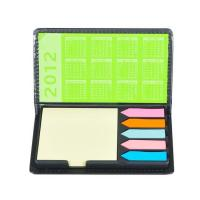 PVC LEATHER MEMO PAD WITH CALENDAR AND STICKY NOTE