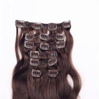 Quality Wholesale remy top grade clip in human hair extensions uk WJ033 wholesale