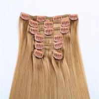 Quality Hot sale cheap human hair long life time clip in hair extensions WJ031 wholesale