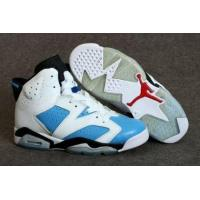 China Air Jordan 6 Retro White Blue Red Black On Womens Cheap High Top Sneakers on sale