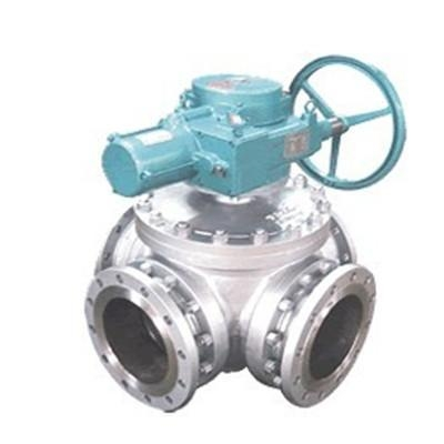 China Cast Stainless Steel Electric Four Way Ball Valve