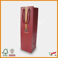 Buy cheap Full color printing paper wine bag from wholesalers