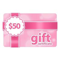 Quality $50 Gift Certificate wholesale