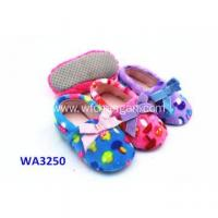 China Kids' Soft Terry Suede Sole Home Slippers on sale