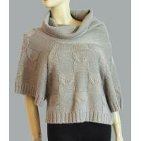Buy cheap Turtle-neck embossed cable dolman sweater from wholesalers