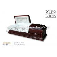 Buy cheap LONG LIFE casket American style solid poplar customized price from wholesalers