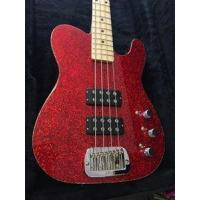 China G&L USA Tom Hamilton/Aerosmith ASAT Red Metal Flake 4-String Electric Bass Guitar 2016 on sale