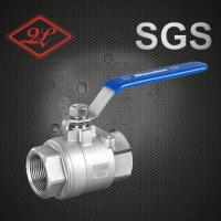 Quality Stainless Steel Threaded 2PCS Ball Valve with Lock Device wholesale
