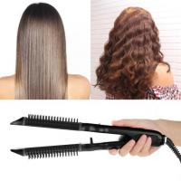 China Black Electric Hair Straightener And Curler Can Make Natural Wave on sale