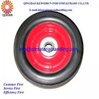 "Quality 6""x1.5"" Solid Rubber Wheel Trolley Wheel With Steel Rim 16mm Bore Bearing wholesale"