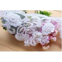 Quality Lovely Lace Beaded Organza Lace Bridal Lace Wedding Lace For Wedding Dress wholesale